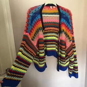 MOTH by Anthropologie colored cardigan